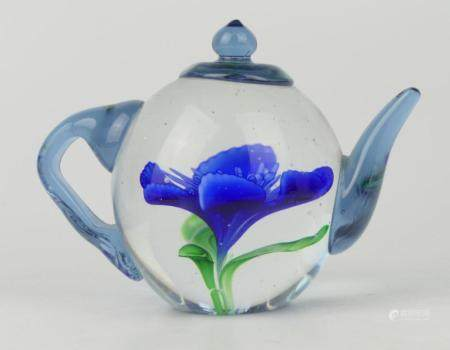 HIERLOOM DYNASTY GALLERY TEAPOT PAPERWEIGHT