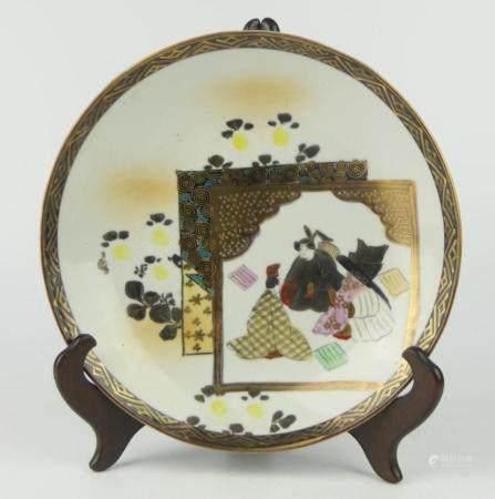 19TH CENTURY KUTANI HAND PAINTED BOWL