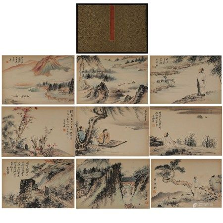 CHINESE PAINTING AND CALLIGRAPHY , LANDSCAPE ZHANG DAQIAN MARK