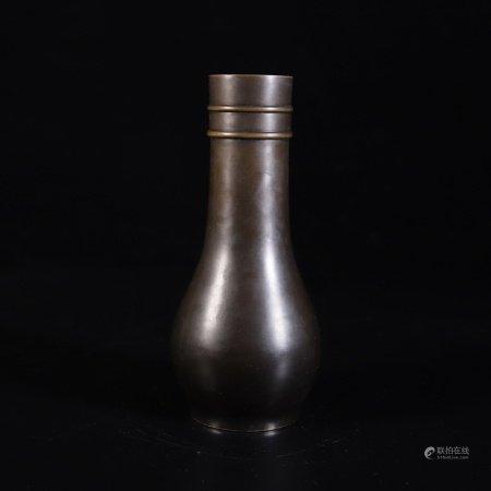 清代 银质弦瓶