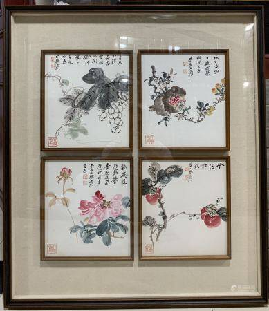 Chinese Painting Of Flower By Zhang