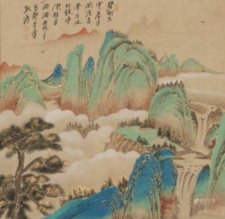 Chinese Painting Of Landscape By Zhang Daqian