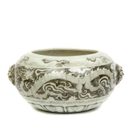 Chinese Porcelain Vessel With Pattern Of Dragon