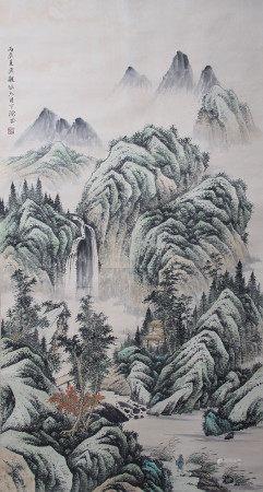 近现代 吴观岱 山水