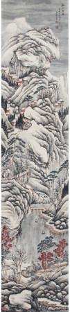 明代 文嘉 溪山雪霁