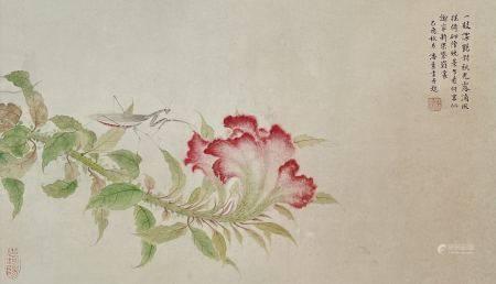 近现代 潘素 花卉