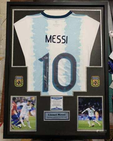 2007  梅西2016美洲杯国家队签名球衣