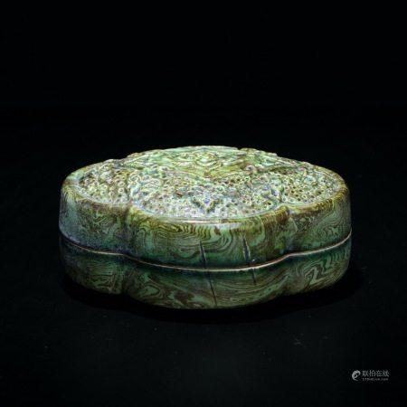 宋 胶胎海棠纹盖盒