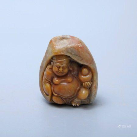 清 寿山石弥勒造像