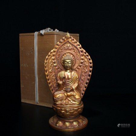 清 铜鎏金释迦牟尼佛