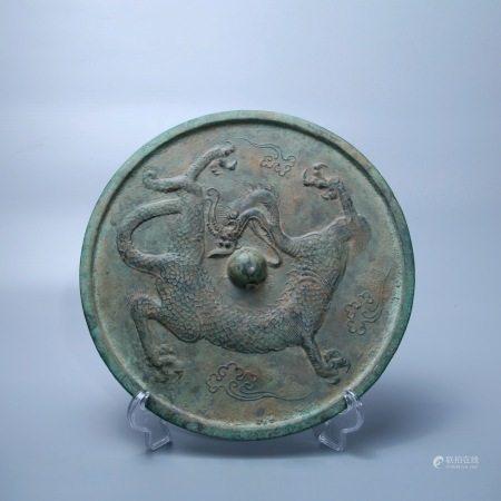 唐 龙纹铜镜