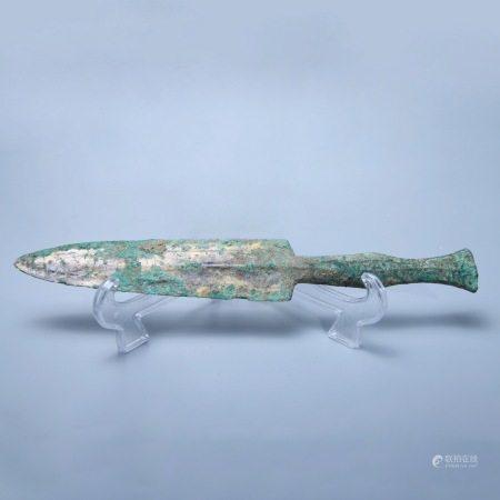 战国 铜鎏金短剑