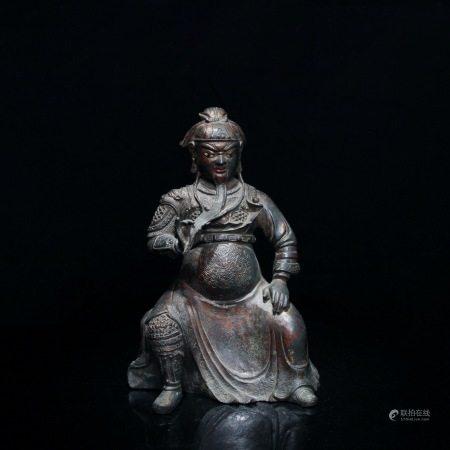 清 铜雕关公像