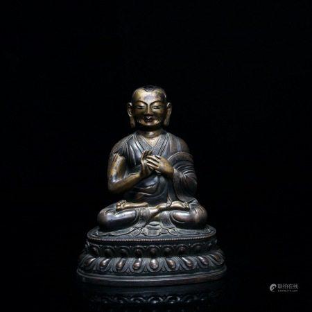 清 铜漆金佛像