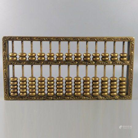 民国 精铜铸造账房算盘