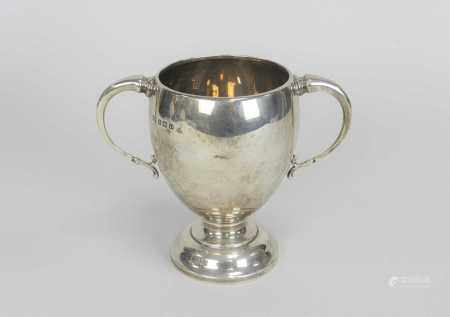 A silver presentation two handled trophy cup