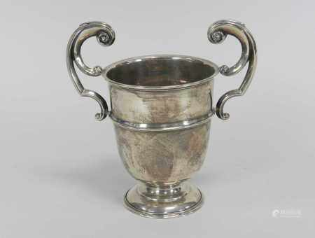A silver trophy cup