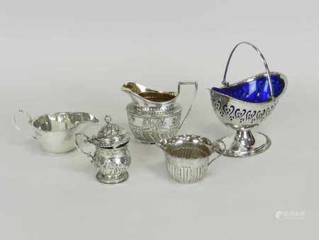 A Victorian silver cream jug
