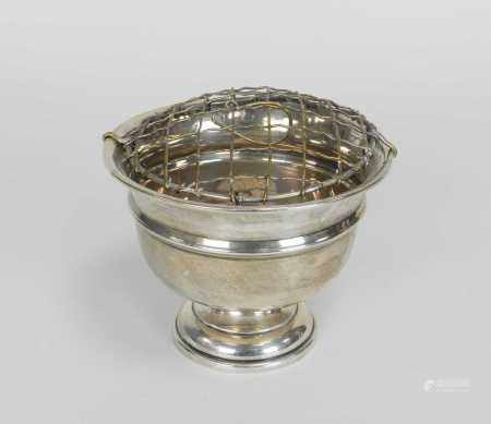 A small silver pedestal bowl