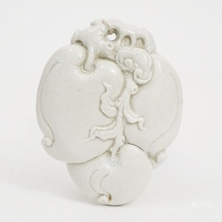 A piece of white-glazed paperweight, late Qing Dynasty 晚清白釉镇纸