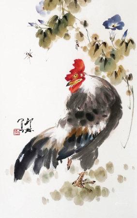 蕭朗 雄雞圖