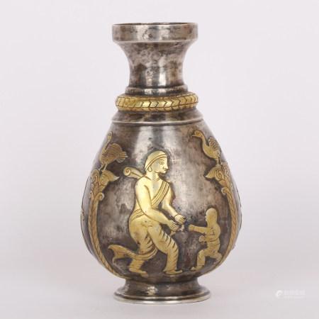 清 搓金银壶