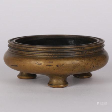 清 铜鬲式炉