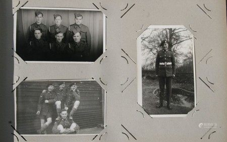 A postcard album with approximately 80 early to mid 20th century Military postcards including WW1