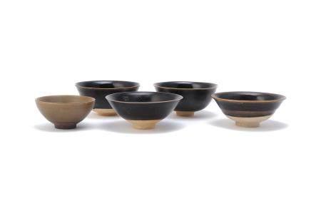 Four Chinese Henan-type bowls