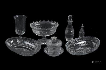 A selection of cut glass