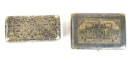 Two Niello Silver Boxes