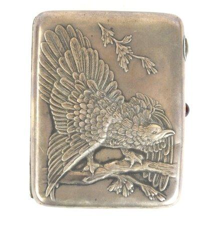Russian Silver Box w. Bird