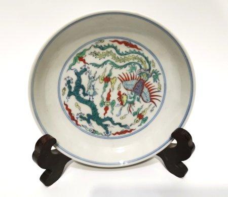 Chinese Doucai Glazed Plate
