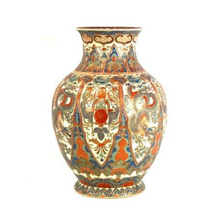 Large Japanese Satsuma Vase by Kinkozan