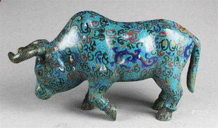 A Cloisonne Rhino Figurine
