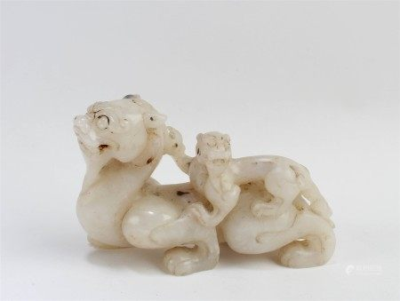 A Carved Jade Mythcal Beast Ornament