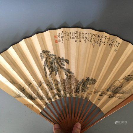 A Fan Painting, Po Ru Song Mark