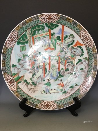 A Famille-Rose Porcelain Plate, Mid-Qing Dynasty