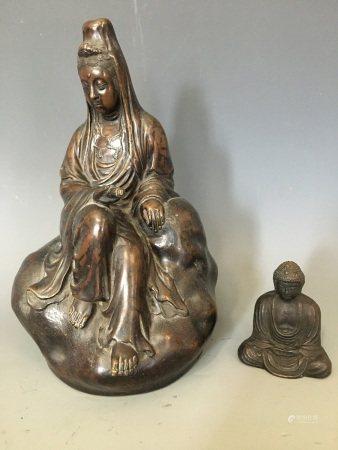 Two Gilt Bronze Figure of Buddhas