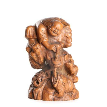 Chinese Woodcarving Toad Ornaments