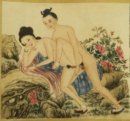 JAPANESE INTER-WAR SHUNGA SCROLL