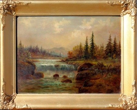 An Antique Romantic Oil Painting