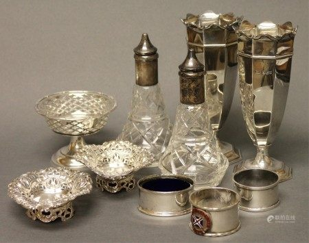 A Group of Crystal & Sterling Pieces
