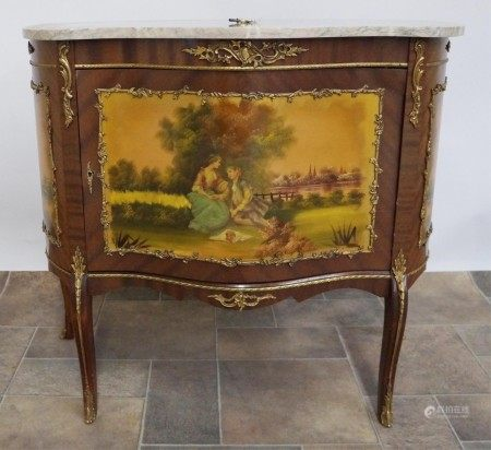 A French Vernis Martin Serpentine Commode