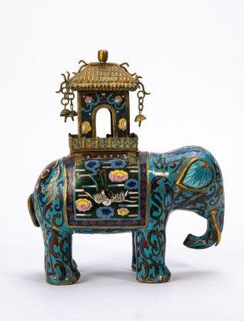 Chinese Cloisonne Enamel Elephant