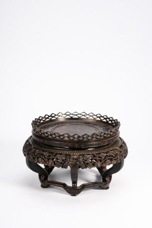 Chinese Zitan Carved Stand
