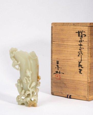 Chinese White Jade Flower Pot