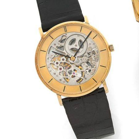 VACHERON CONSTANTIN  Ref. 7066, n° 593271 / 423094 Vers 1967  Montre bracelet squelette extra-p