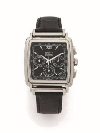 ZÉNITH  El Primero, ref. 90/01 0420 400 Vers 2000  Chronographe bracelet en acier Boîtier : cou