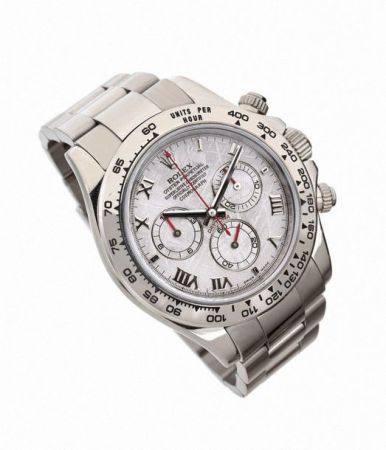 """ROLEX  Daytona """"Meteorite dial"""", ref. 116509, n° D027994 Vers 2005  Chronographe bracelet en or"""